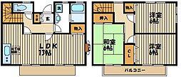 [タウンハウス] 東京都府中市是政6丁目 の賃貸【/】の間取り