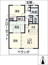 グランドヒルズ神ノ倉[3階]の間取り