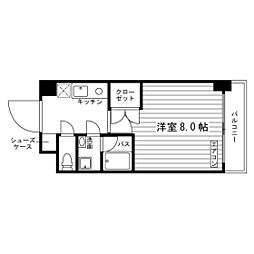 学生会館 RJR折尾南I[8階]の間取り