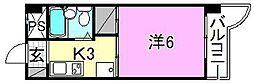 村上ビル[304 号室号室]の間取り
