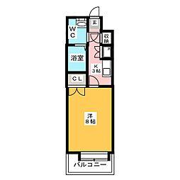ダイナコート エスタディオレシェンテ[11階]の間取り