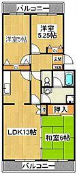 エクセル飯塚[203号室]の間取り