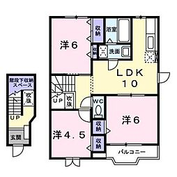 ピュアハウスII[2階]の間取り