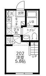 (仮)シティハイツ南台2丁目[202号室]の間取り