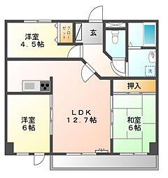 日映マンションⅢ[4階]の間取り