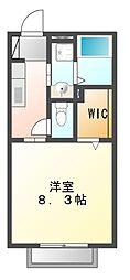エステートミヤマ[2階]の間取り