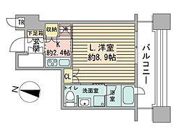 ラフィネタワー札幌南3条[4階]の間取り