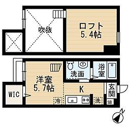 神奈川県大和市柳橋1丁目の賃貸アパートの間取り