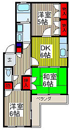 ジュネス桜田[4階]の間取り