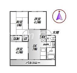 川久保第二ビル[3階]の間取り