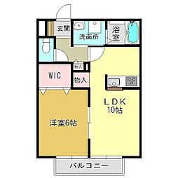 奈良県大和高田市神楽1丁目の賃貸アパートの間取り