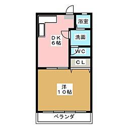 パインコーポ壱番館[2階]の間取り