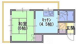 モーニングハイツ[3階]の間取り