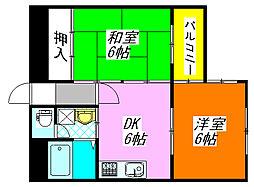 シャトー・パシフィック 402号室[4階]の間取り