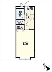 プランドールB[1階]の間取り