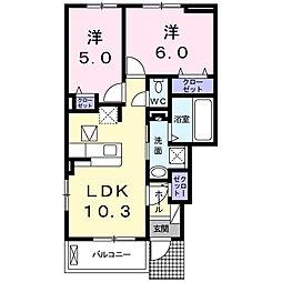 カーサアリエッタ[1階]の間取り