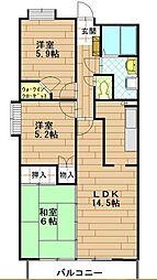 プライムステージ21[1階]の間取り