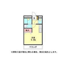 愛知県小牧市大字岩崎の賃貸マンションの間取り
