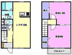 [テラスハウス] 茨城県つくばみらい市高岡 の賃貸【茨城県 / つくばみらい市】の間取り