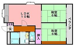 種村マンション3番館[303号室]の間取り