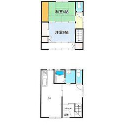 コーポコヤマ[B号室]の間取り