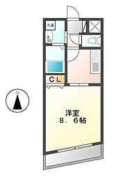 ル・シャンパーニュ[5階]の間取り