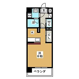 ヴィアーレ広瀬[3階]の間取り