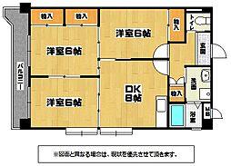 第三矢野ビルB棟[4階]の間取り