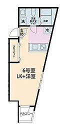 ピースコート成城 2階1Kの間取り