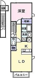 サニーレジデンスII[2階]の間取り
