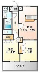 シャイニーコート[1階]の間取り