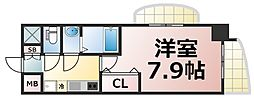 Luxe森ノ宮 4階1Kの間取り