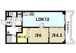 ラ・サンフォニー[2階]の間取り