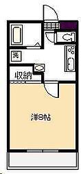 学園台コーポII[410号室]の間取り
