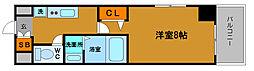 シャトー桜川[802号室]の間取り