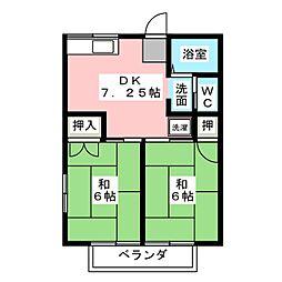 コーポ大島 B[2階]の間取り