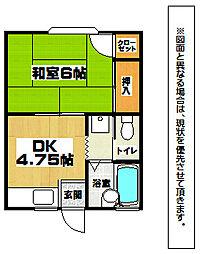 コーポK・Y[1階]の間取り