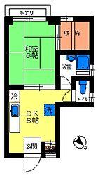 中台マンション[301号室]の間取り