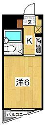 アビタ南鴨宮[4C号室号室]の間取り