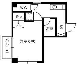 福岡県久留米市東和町の賃貸マンションの間取り