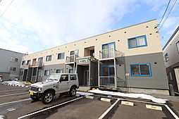 北海道北広島市大曲南ケ丘2丁目の賃貸アパートの外観