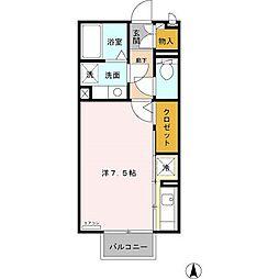 カーサHAKODA[205号室]の間取り