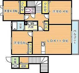 マインフェルト A棟[2階]の間取り