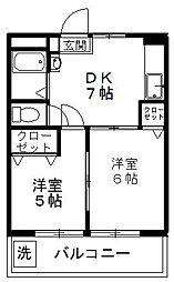 東京都中野区鷺宮5丁目の賃貸マンションの間取り
