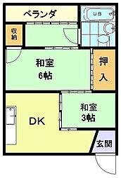 ニュー松屋マンション[2階]の間取り