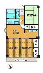 ヤベ141ビル[4階]の間取り