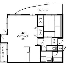 大阪府豊中市長興寺南1丁目の賃貸マンションの間取り