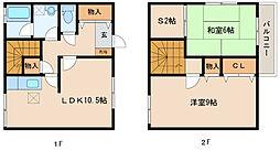 [一戸建] 滋賀県栗東市小野 の賃貸【/】の間取り