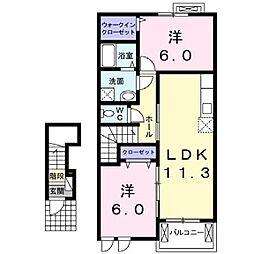 エスペランサ浜の宮Ⅱ[2階]の間取り
