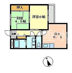 兵庫県神戸市垂水区山手5丁目の賃貸マンションの間取り